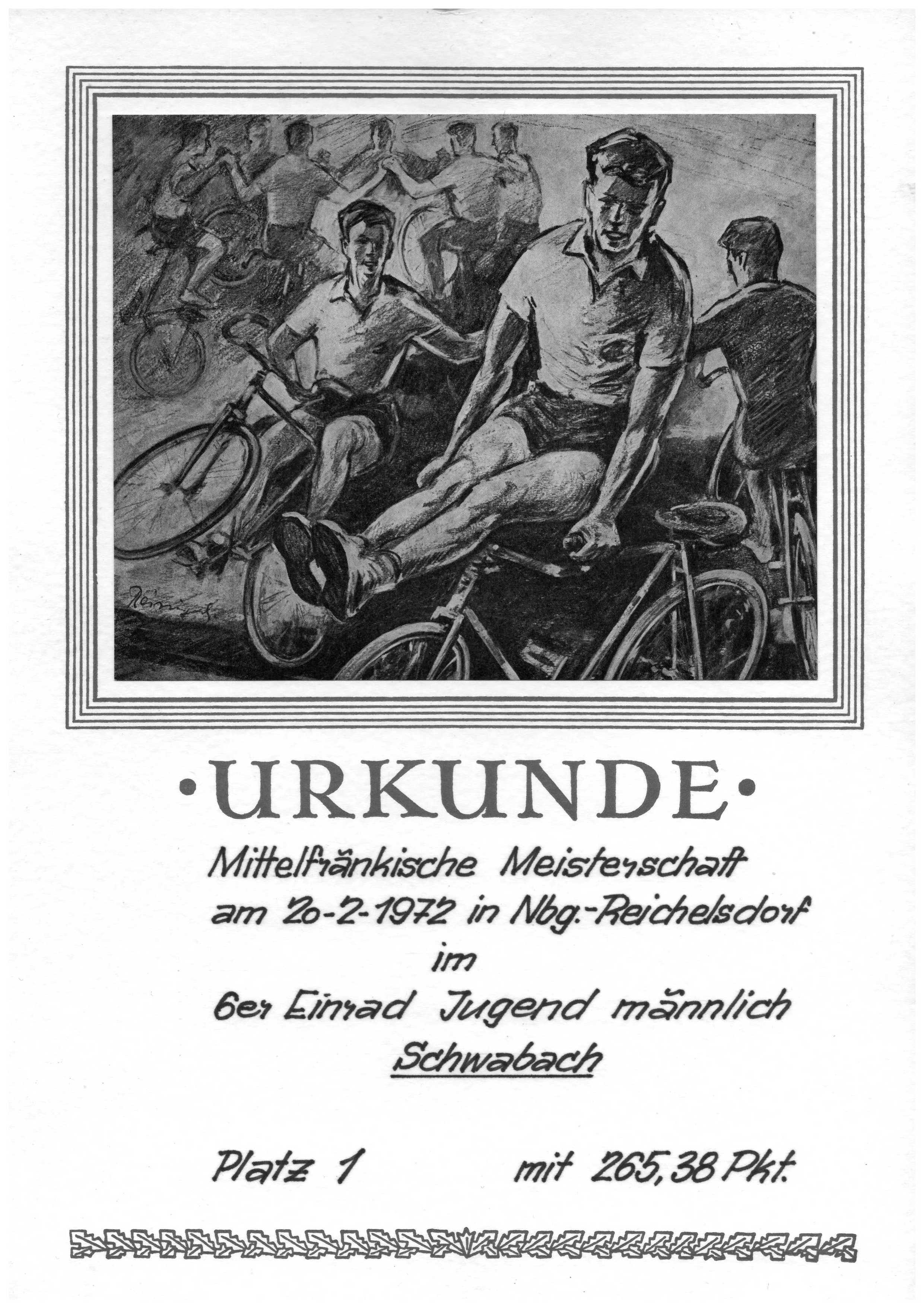 Urkunde-4er-Einrad-1972_Reichelsdorf