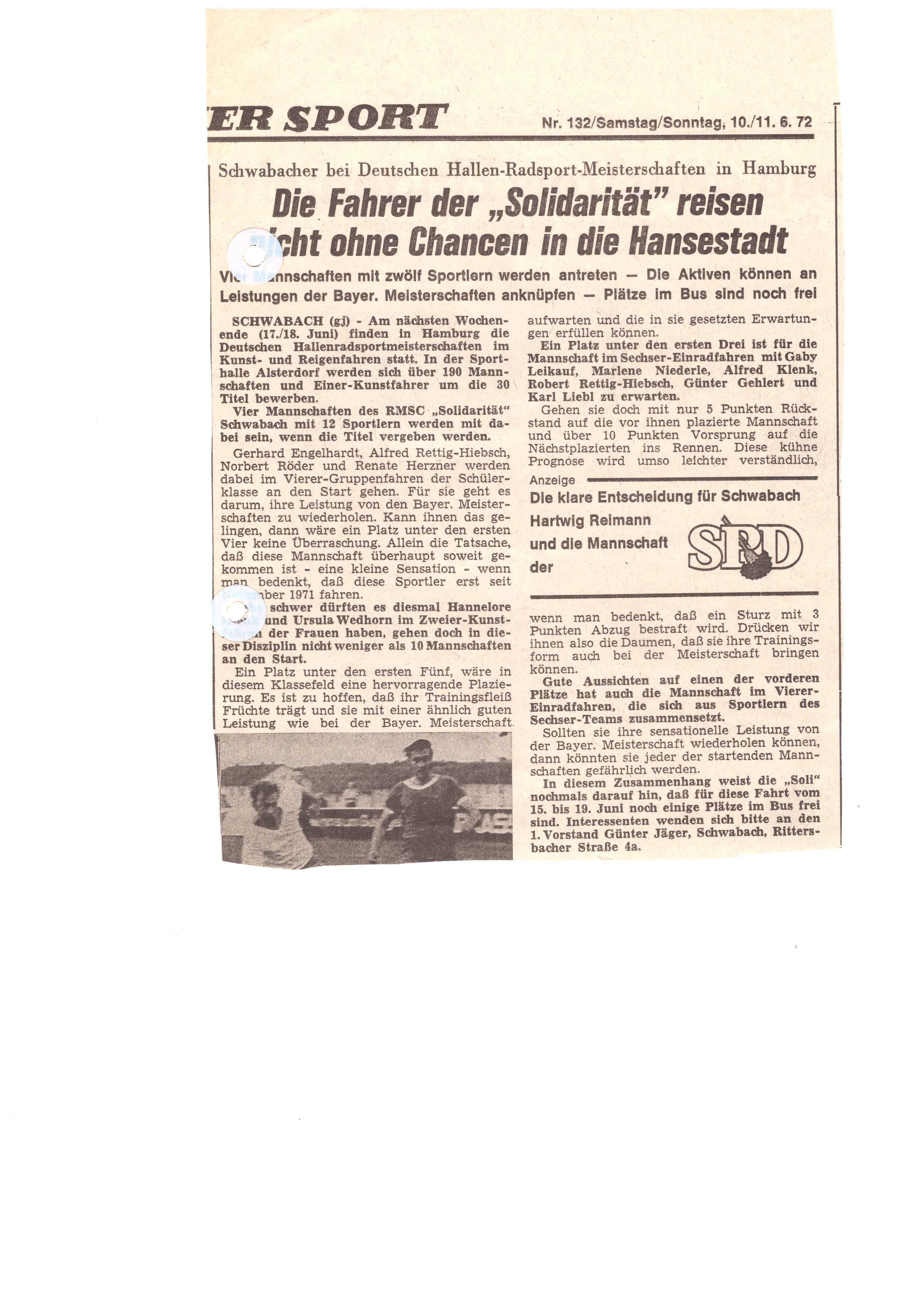 Zeitungsartikel-1972-Quali-zur-DM-Hamburg
