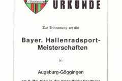 Urkunde-1973-4er-Einrad-Göggingen